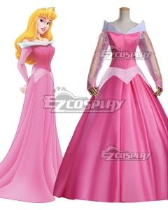 Disney Sleeping Beauty Aurora Princess Dress Cosplay Costume - B Edition