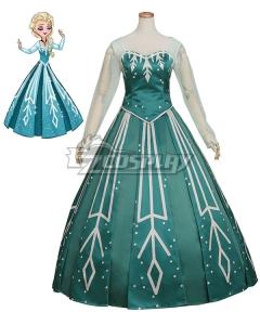 Disney Frozen Elsa Ball Gown  Cosplay Costume