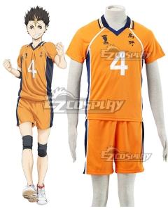 Haikyu!! Haikyuu!! Karasuno High School Yu Nishinoya Orange Cosplay Costume
