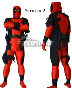 Marvel Halloween Deadpool LOGO Elbow Gloves Kneepad Whole Set