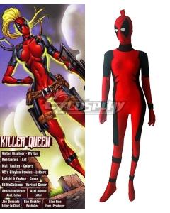 Marvel Female Deadpool Killer Queen Women Zentai Cosplay Costume