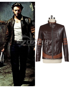 Marvel X-men Wolverine Logan Huge Jackman Leather Jacket Cosplay Costume - Only Coat