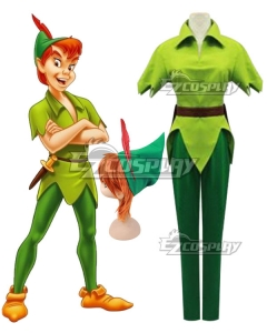 Peter Pan Adult Men Costume Green Halloween Carnival Party Cosplay Costume