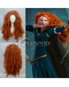 Disney Brave Princess Merida Brown Cosplay Wig