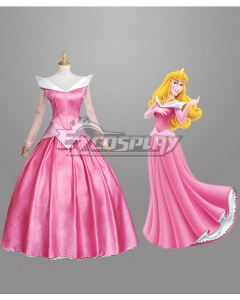 Disney Sleeping Beauty Pincesss Aurora Dress Cosplay Costume