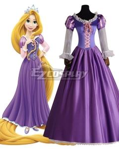 Disney Tangled Rapunzel Princess Purple Dress Cosplay Costume - B Edition