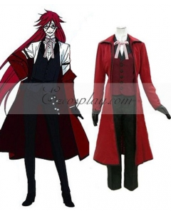 Black Butler Grell Sutcliff Red Butler Shinigami Cosplay Costume