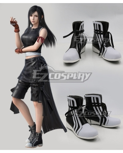 Final Fantasy VII: Advent Children Tifa Lockhart Black Shoes Cosplay Boots