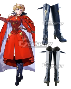 Fire Emblem: Three Houses Edelgard Von Hresvelg New Edition Black Shoes Cosplay Boots