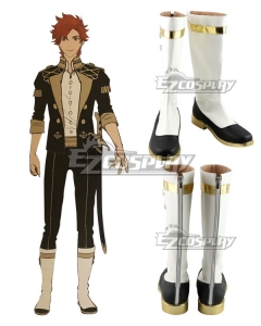 Fire Emblem Three Houses Sylvain White Shoes Cosplay Boots