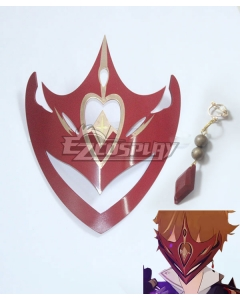 Genshin Impact Childe Tartaglia Mask and Earrings Cosplay Accessory Prop