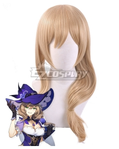 Genshin Impact Lisa Brown Cosplay Wig