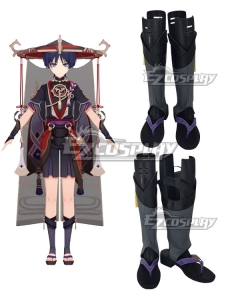 Genshin Impact Scaramouche Blue Shoes Cosplay Boots