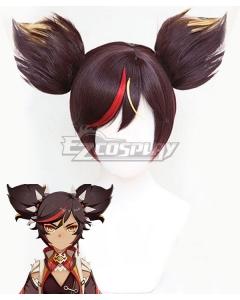 Genshin Impact Xinyan Brown Copslay Wig