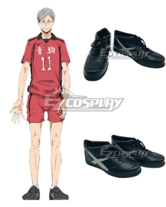 Haikyu!! Haikyuu!! Second Season Nekoma High Nekoma Koukou Lev Haiba Black Cosplay Shoes