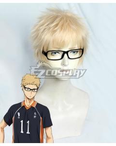 Haikyu!! Tsukishima Kei Golden Cosplay Wig - Including Glasses