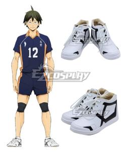 Haikyuu! Tadashi Yamaguchi White White Cosplay Shoes