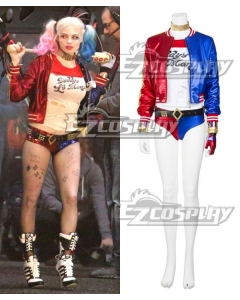 DC Comics New Batman Suicide Squad Harley Quinn Cosplay Costume Outfit - A Edition