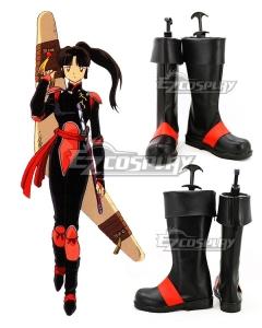 Inuyasha Sango Black Shoes Cosplay Boots