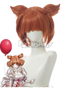 IT Chapter Two Female Pennywise Orange Red Cosplay Wig