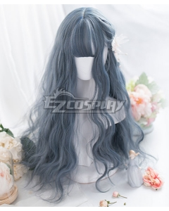 Japan Harajuku Lolita Series Blue Curly Cosplay Wig