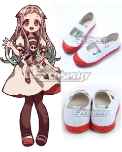 Jibaku Shounen Hanako-Kun Yashiro Nene Whtie Red Cosplay Shoes