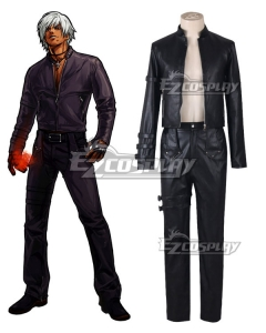 King of Fighters 99 K DASH Black Uniform Cosplay Costume