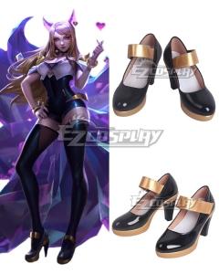 League Of Legends LOL KDA K/DA Ahri Black Cosplay Shoes