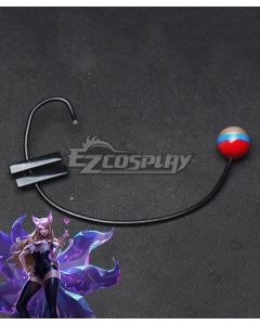 League Of Legends LOL KDA K/DA Ahri Headset Cosplay Accessory Prop
