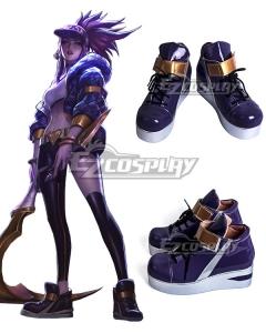 League Of Legends LOL KDA K/DA Akali Black Cosplay Shoes