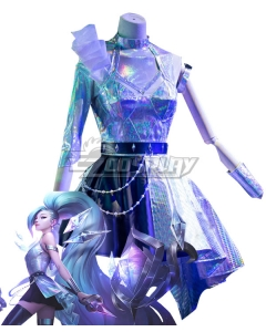 League Of Legends LOL K/DA ALL OUT Seraphine Superstar Cosplay Costume
