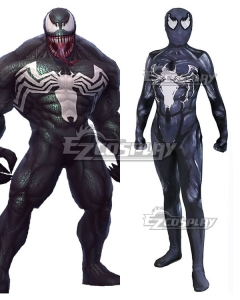 Marvel 2018 Movie Venom Spandex Jumpsuit Cosplay Costume