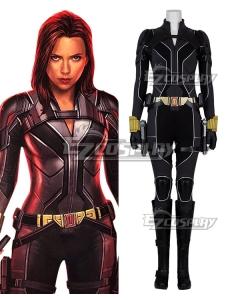 Marvel 2020 Movie Black Widow Natasha Romanoff Suit Cosplay Costume Black Edition