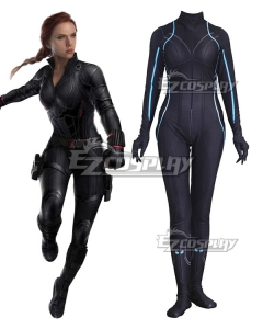 Marvel Avengers 4: Endgame Avengers Black Widow Natasha Romanoff Jumpsuit Cosplay Costume