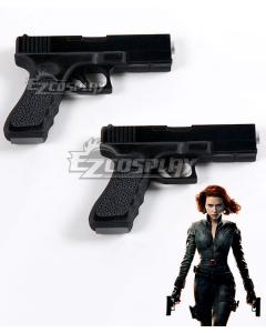 Marvel Avengers Black Widow Natasha Romanoff Two Guns Cosplay Weapon Prop