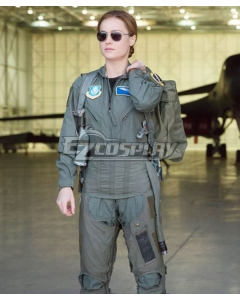 Marvel Captain Marvel  2019 Movie Carol Danvers Flightsuit Cosplay Costume