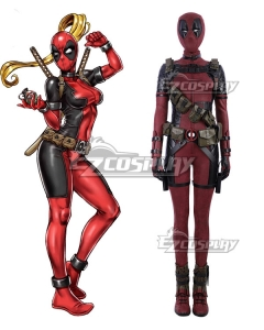 Marvel Deadpool Lady Wade Wilson Female Cosplay Costume