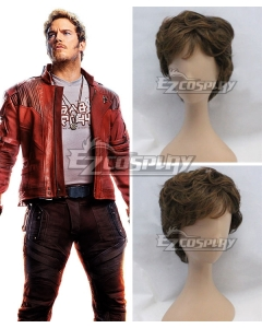 Marvel Guardians Of The Galaxy Vol. 2 Star Lord Peter Jason Quill Brown Cosplay Wig