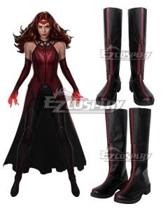 Marvel Wanda Vision Wanda Maximoff Withch Purple Shoes Cosplay Boots