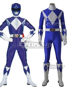 Mighty Morphin Power Rangers Blue Ranger Cosplay Costume - Without Boots