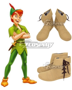 Peter Pan: The Boy Who Wouldn't Grow Up Peter Pan Orange Cosplay Shoes