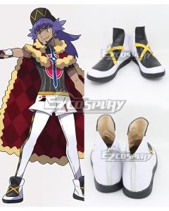 Pokemon Pokémon Sword And Pokémon Shield Leon Black White Cosplay Shoes