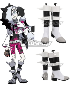 Pokemon Pokémon Sword And Shield Piers Black Grey Shoes Cosplay Boots