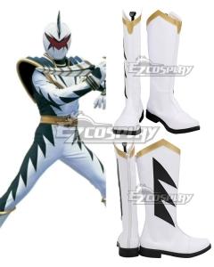 Power Rangers Dino Thunder White Dino Ranger White Shoes Cosplay Boots