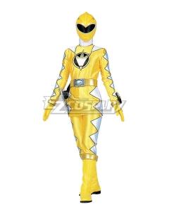 Power Rangers Dino Thunder Yellow Dino Ranger Cosplay Costume