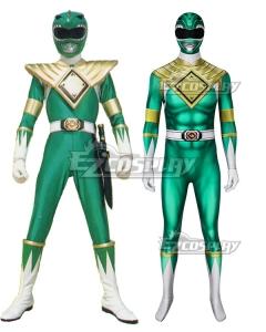 Mighty Morphin Power Rangers Green Ranger Zentai Jumpsuit Cosplay Costume