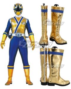 Power Rangers Ninja Steel Ninja Steel Gold White Shoes Cosplay Boots
