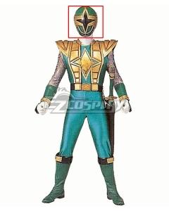 Power Rangers Ninja Storm Green Samurai Ranger Helmet Cosplay Accessory Prop