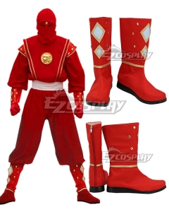 Power Rangers Red Ninjetti Ranger Red Cosplay Shoes