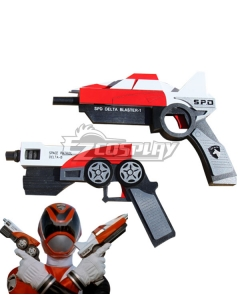 Power Rangers S.P.D. SPD Red Ranger Double Gun Cosplay Weapon Prop